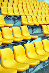 yellow football seats