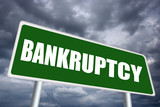 Illustrated bankruptcy sign
