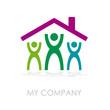 Logo family build a house # Vector