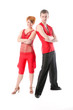 Dancing couple on a white background