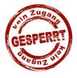 Gesperrt / vektor