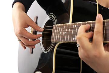 Zupftechnik spielen Gitarre seitlich Dur