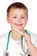 Adorable child with doctor uniform