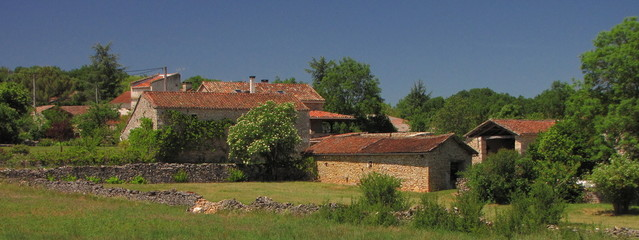 Village de Aujols ; Quercy ; Périgord ; Midi-Pyrénées