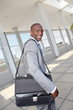Businessman on business travel journey