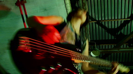 Beautiful guitar player
