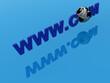 Global Network with World Globe