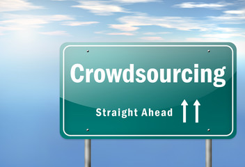 "Highway Signpost ""Crowdsourcing"""