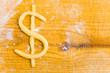 Dollar-Symbol als Keks