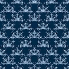 Fan-Shaped Damask Seamless Pattern