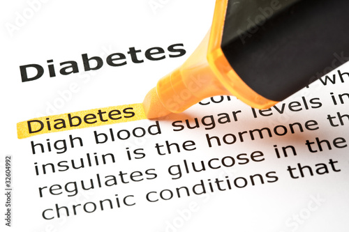 'Diabetes' highlighted in orange