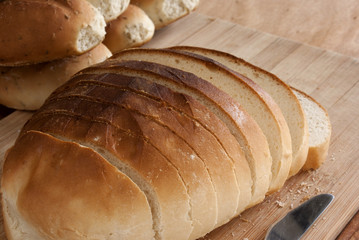Sliced Country Bread Loaf