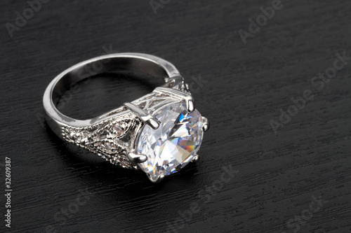 Diamond Ring in black background