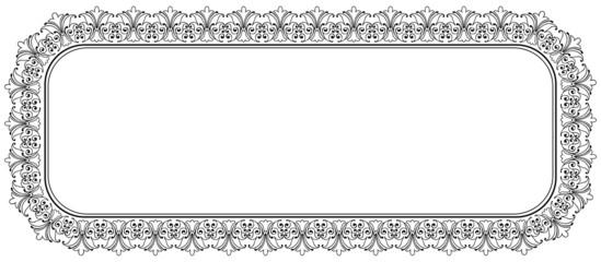 Rahmen - Panorama, Ornament, Banner, Muster, Retro