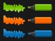 Set of highlighter pens