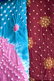 Tie dyed colorful fabric,Jaipur, Rajasthan,India poster