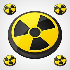 Radiation Round Sign