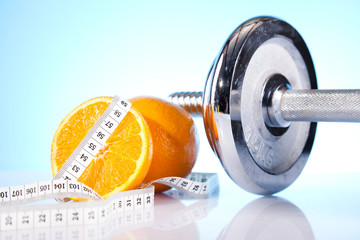 Weight loss, fitnes and Dumbell