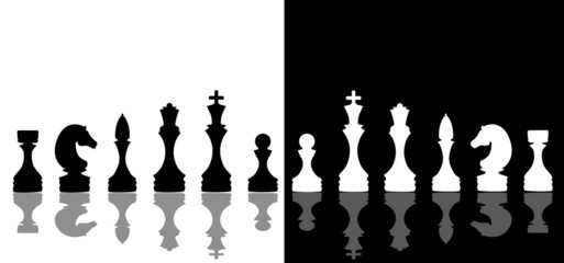 silhouette chess isolated 3d render