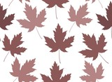 Maple leaf seamless tile
