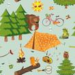 Fototapeten,zelten,camping,picknick,sommer