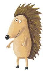 Cute hedgehog standing