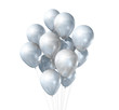 white balloons isolated