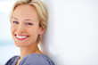 Beautiful young female smiling - Copyspace