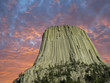 Colors of Sunset over Devils Tower, U.S.A.