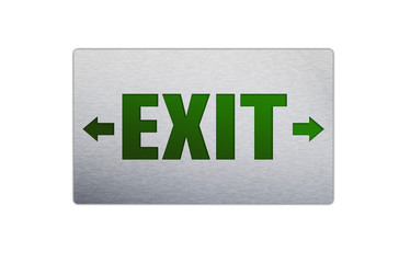 Square Exit sign isolated on a white background.