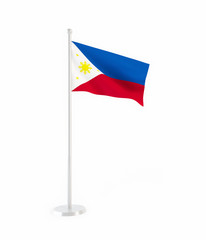 3D flag of Philippines