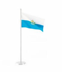 3D flag of San Marino