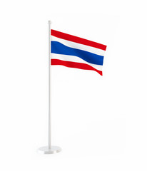 3D flag of Thailand