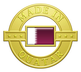 """Made In Quatar"" Golden Plate"