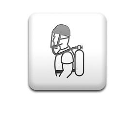 Boton cuadrado blanco casco y equipo respiratorio