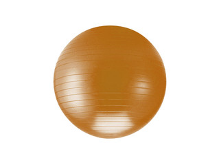 a orange fitball isolated against a white background