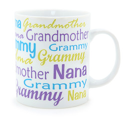 Grandmother Coffee Mug over White
