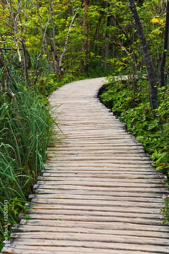droga-przemian-w-plitvice-jezior-parku-przy-chorwacja