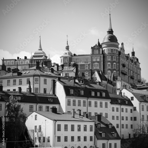 Buildings at mälarstrand in  Stockholm, Sweden
