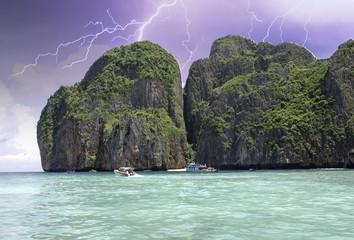 Thunderstorm approaching Thai Island