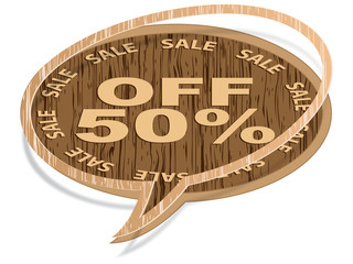 chat icon fifty percent discount
