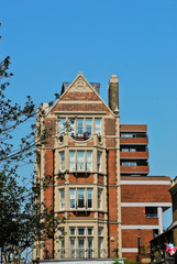 Typical english style building in London, UK