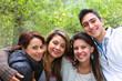 4 Friends Smiling Together
