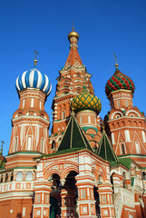 St.Basil's Cathedral on the Red Square (Moscow, Russia)
