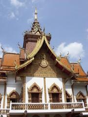Buddhist temple, Wat Bupparam in Chiangmai, Thailand