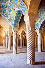 Vakil Mosque, pillars of Prayer Hall