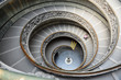 Spiral staircase of the Vatican Museum in Rome, Italy