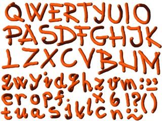 3d Colorful alphabet