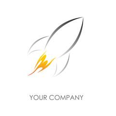 Logo rocket # Vector
