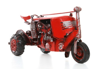 Old Retro Red Tractor